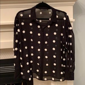 Zara Basic Sheer Top